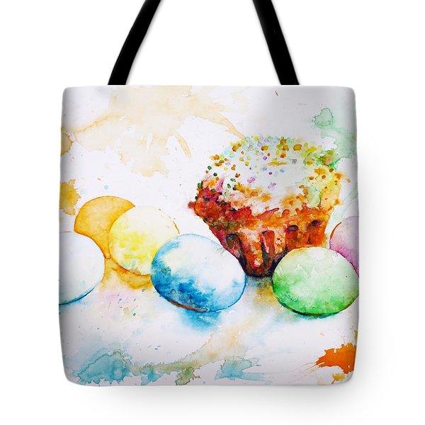 Easter Colors Tote Bag by Zaira Dzhaubaeva