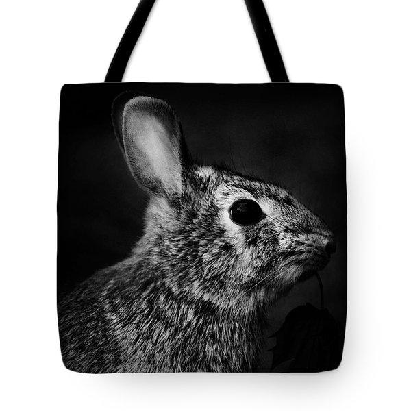 Eastern Cottontail Rabbit Portrait Tote Bag by Rebecca Sherman