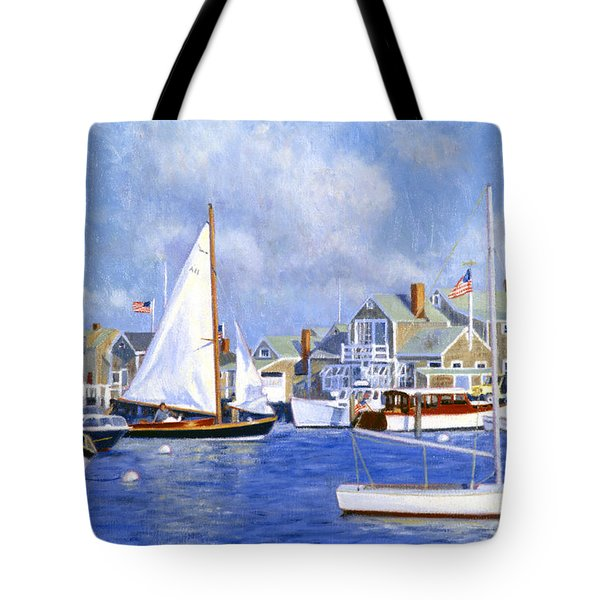 Easy Street Basin Blues Tote Bag by Candace Lovely