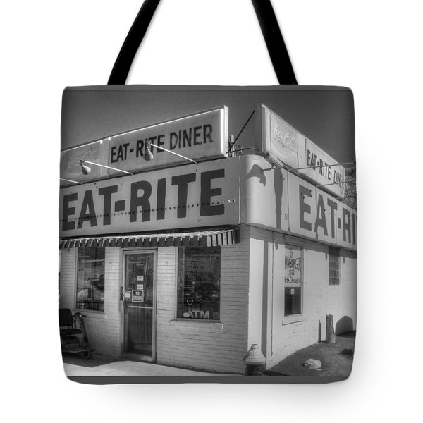 Eat Rite Diner Tote Bag by Jane Linders