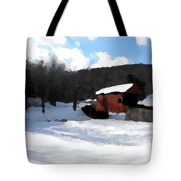 Ebenezer Bridge in Winter Tote Bag by Spencer McKain