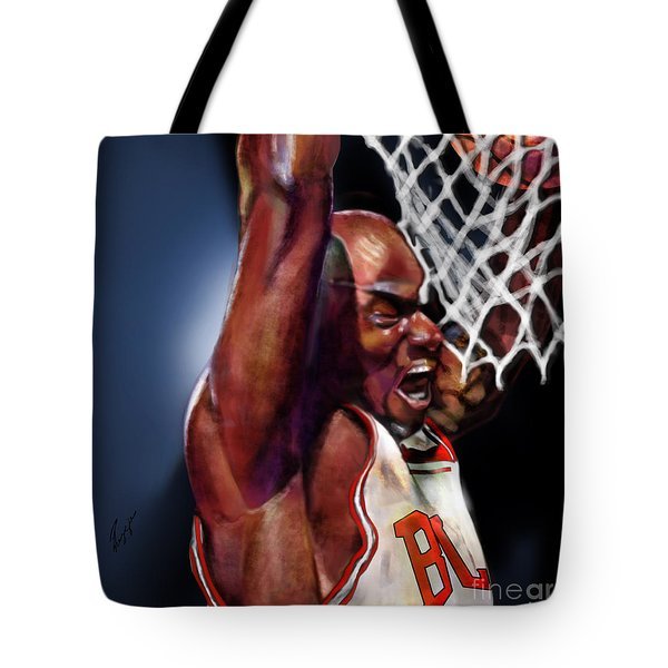 Eclipsing The Moon - Jordan  Tote Bag by Reggie Duffie
