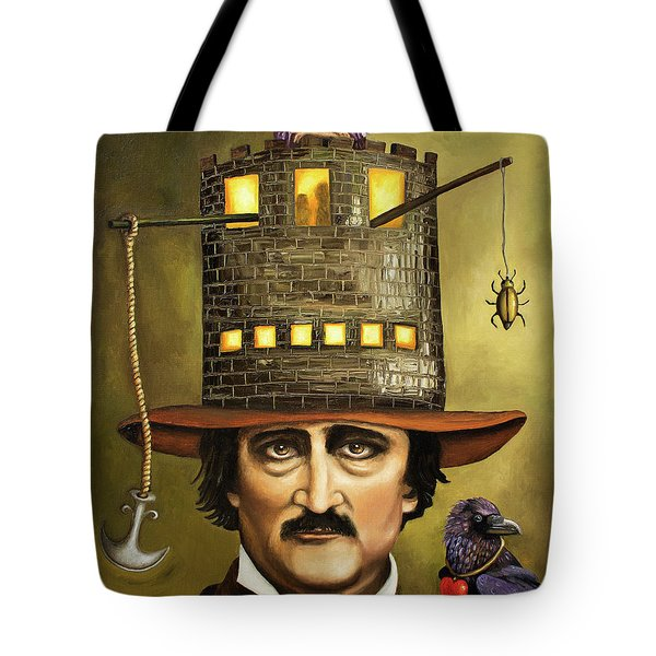 Edgar Allan Poe Tote Bag by Leah Saulnier The Painting Maniac
