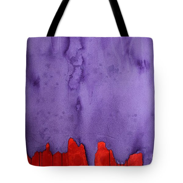 Edge Of The West Original Painting Tote Bag by Sol Luckman