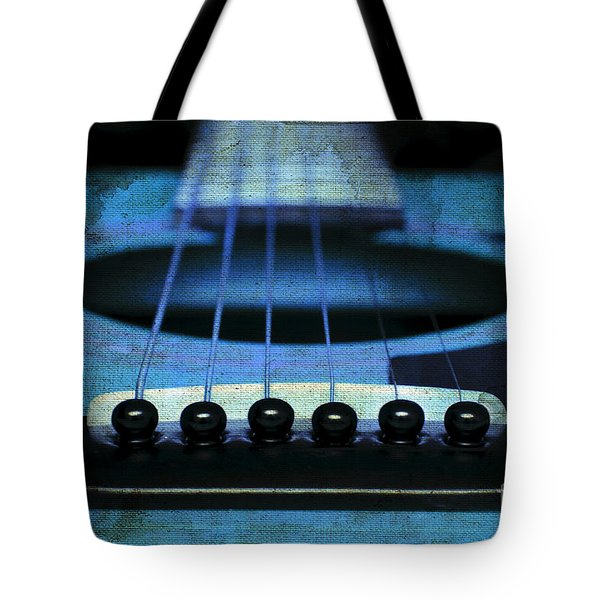 Edgy Abstract Eclectic Guitar 17 Tote Bag by Andee Design