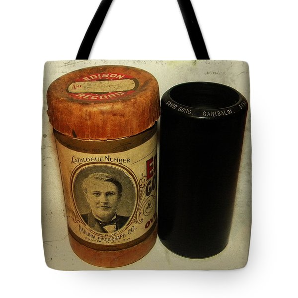 Edison Phonograph Cylinder 9750 Comic Song  Garibaldi  Tote Bag by Bill Cannon
