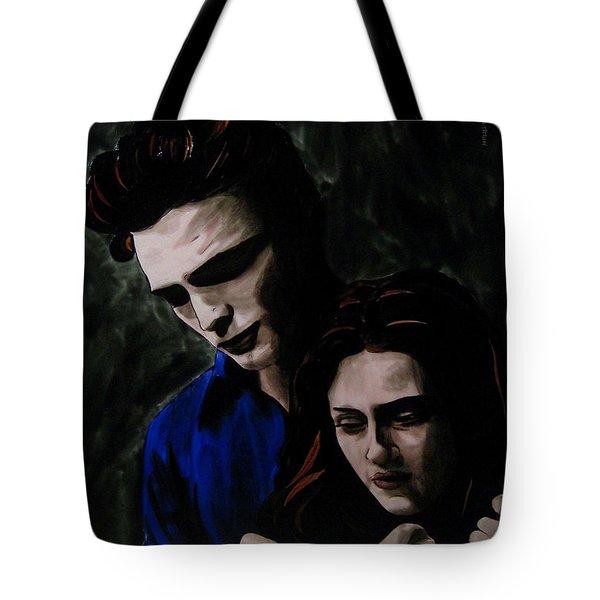 Edward And Bella Tote Bag by Betta Artusi