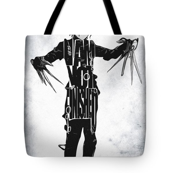 Edward Scissorhands - Johnny Depp Tote Bag by Ayse Deniz