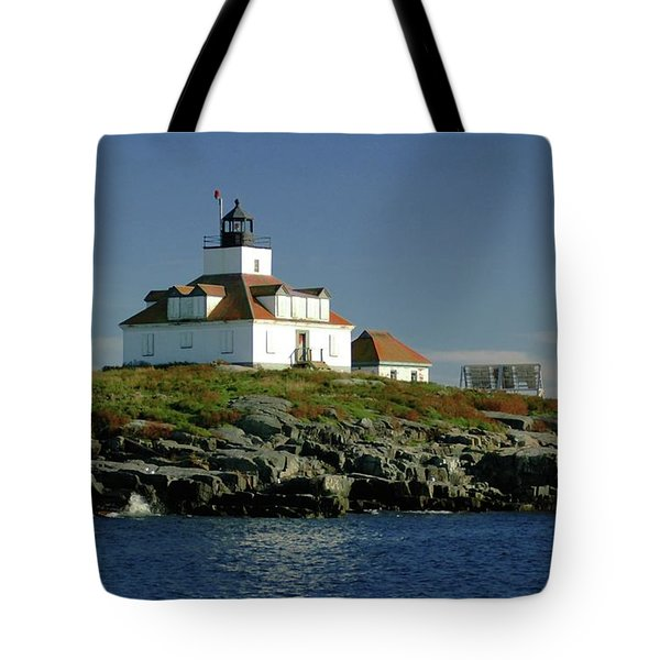 Egg Rock Lighthouse Tote Bag by Kathleen Struckle