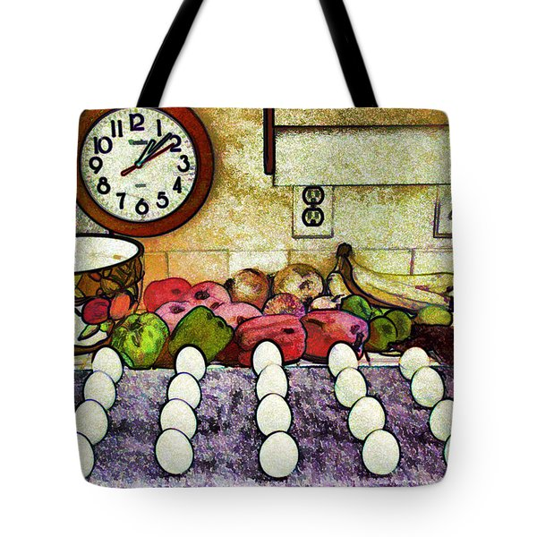 Eggs on Display Tote Bag by Chuck Staley