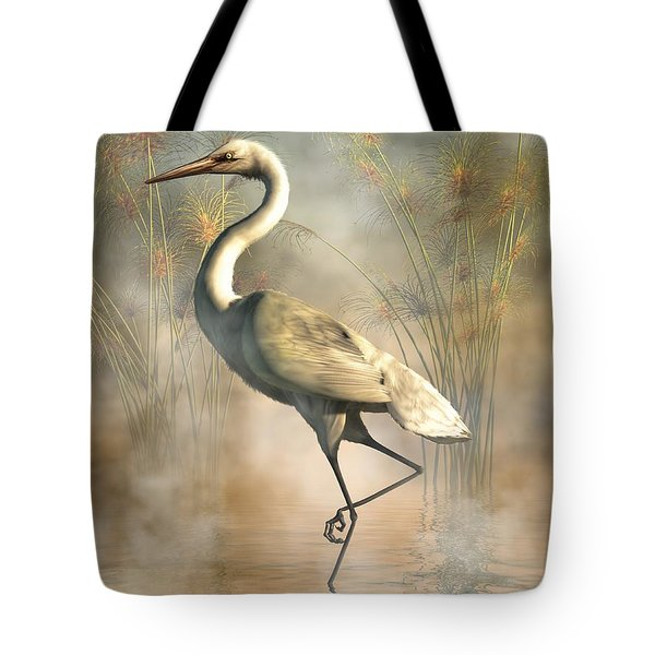 Egret Tote Bag by Daniel Eskridge