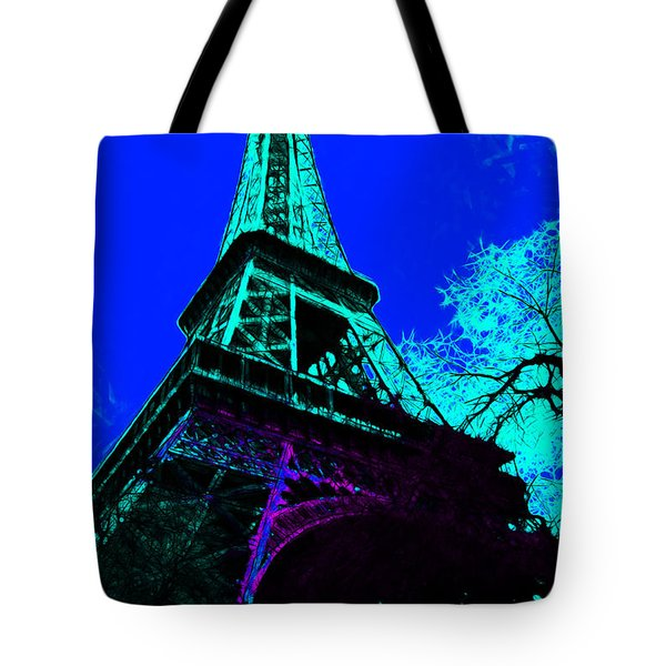 Eiffel 20130115v4 Tote Bag by Wingsdomain Art and Photography