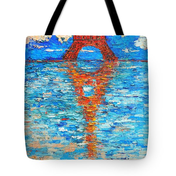 Eiffel Tower Abstract Impression Tote Bag by Ana Maria Edulescu