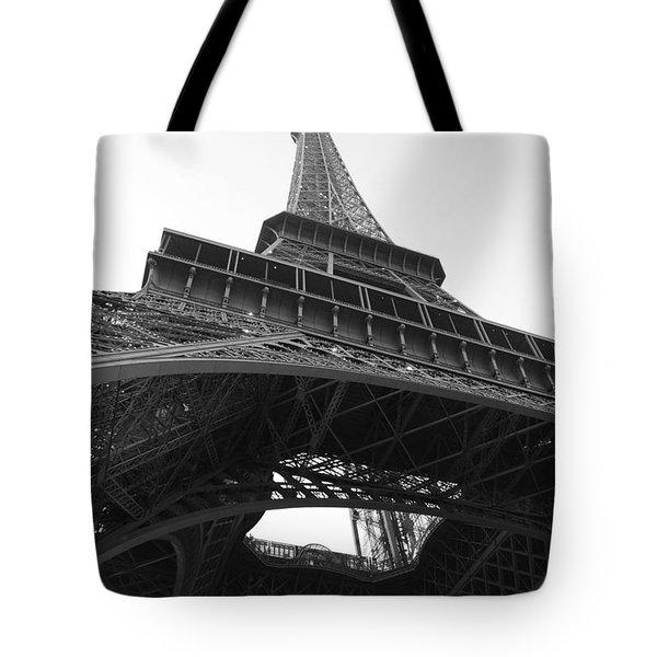 Eiffel Tower B/w Tote Bag by Jennifer Ancker