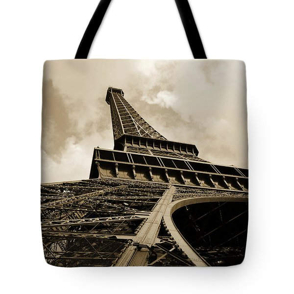 Eiffel Tower Paris France Black And White Tote Bag by Patricia Awapara