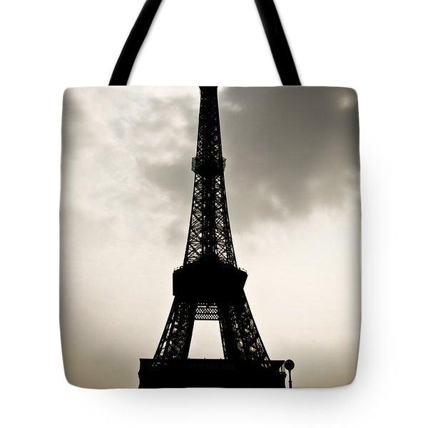 Eiffel Tower Silhouette Tote Bag by Nila Newsom