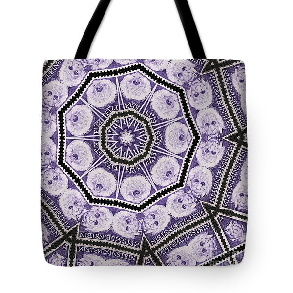 Einstein Mandala Tote Bag by Andy Prendy