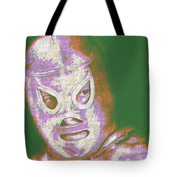 El Santo The Masked Wrestler 20130218v2m128 Tote Bag by Wingsdomain Art and Photography