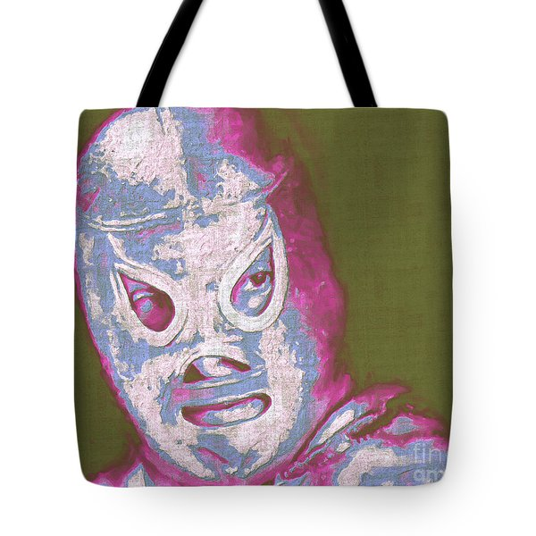 El Santo The Masked Wrestler 20130218v2m168 Tote Bag by Wingsdomain Art and Photography