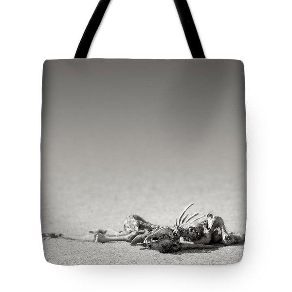 Eland skeleton in desert Tote Bag by Johan Swanepoel