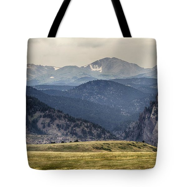 Eldorado Canyon And Continental Divide Above Tote Bag by James BO  Insogna