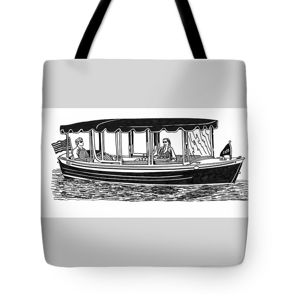 Electric Harbor Launch Tote Bag by Jack Pumphrey