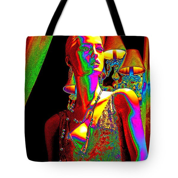 Electric Lady Tote Bag by Chuck Staley