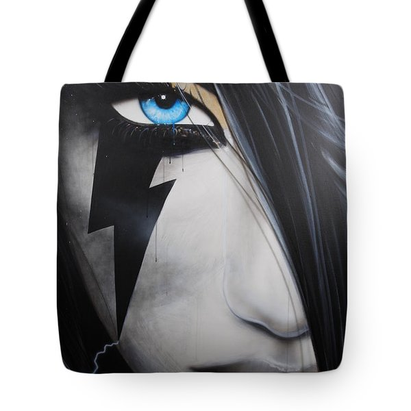 'Electric Sin' Tote Bag by Christian Chapman Art