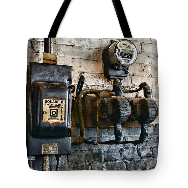 Electrical Energy Safety Switch Tote Bag by Paul Ward