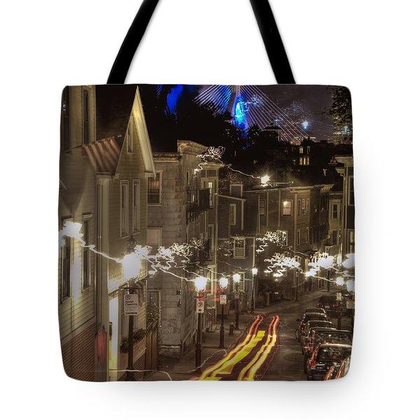 Electrified Boston Tote Bag by Joann Vitali