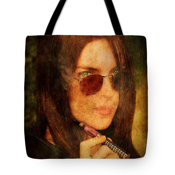 Electronic Smoking Tote Bag by Loriental Photography