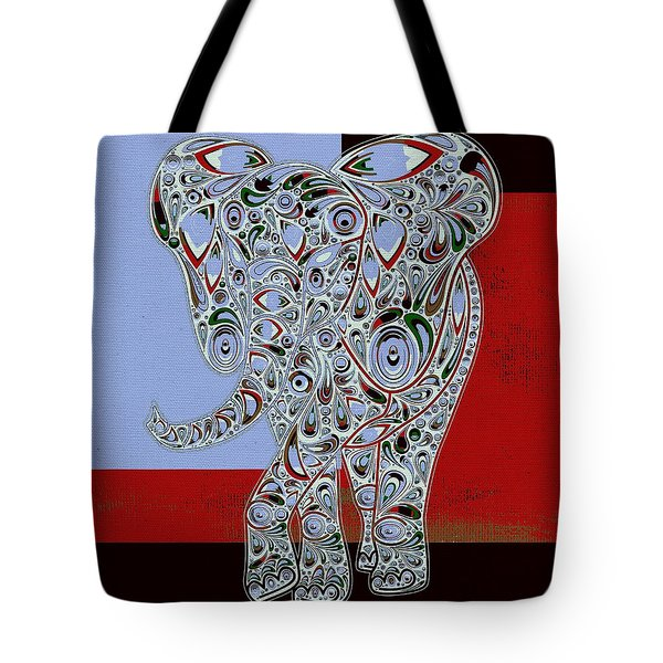 Elefantos - 01ac9at01 Tote Bag by Variance Collections