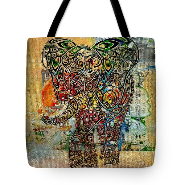 Elefantos - Co01at03 Tote Bag by Variance Collections