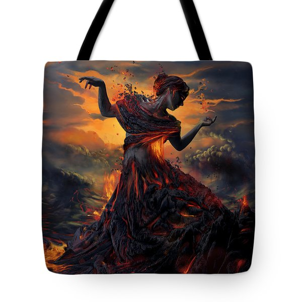 Elements - Fire Tote Bag by Cassiopeia Art