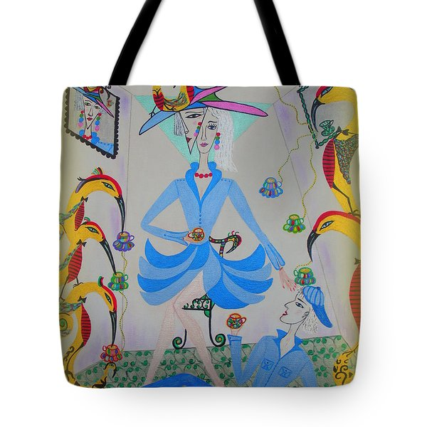 Eleonore Tea Party Tote Bag by Marie Schwarzer