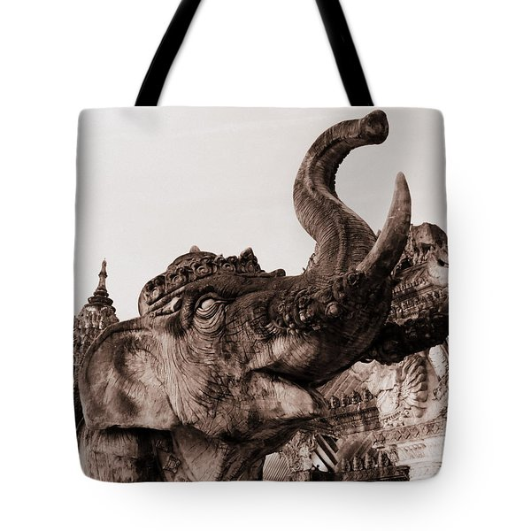 Elephant Architecture Tote Bag by Ramona Johnston