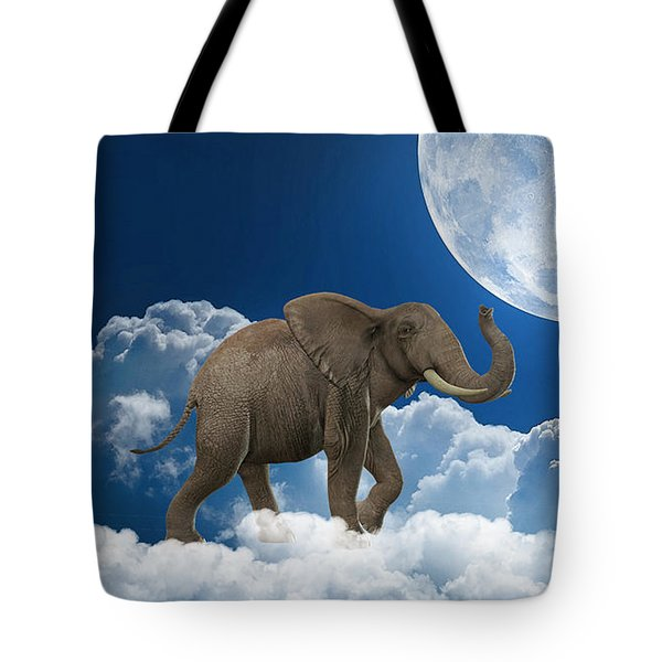 Elephant On Cloud 9 Tote Bag by Marvin Blaine
