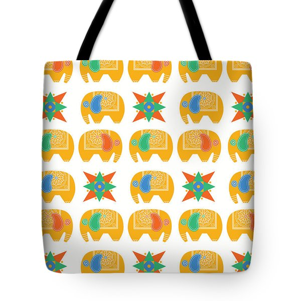 Elephant Print Tote Bag by Susan Claire