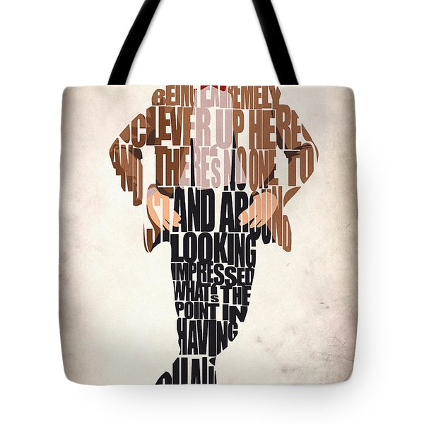 Eleventh Doctor - Doctor Who Tote Bag by Ayse Deniz