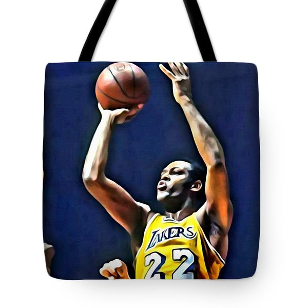 Elgin Baylor Tote Bag by Florian Rodarte