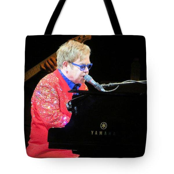 Elton John Live Tote Bag by Aaron Martens