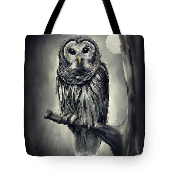 Elusive Owl Tote Bag by Lourry Legarde