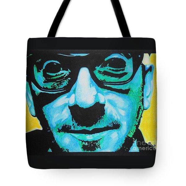 Elvis Costello Tote Bag by Bonnie Cushman