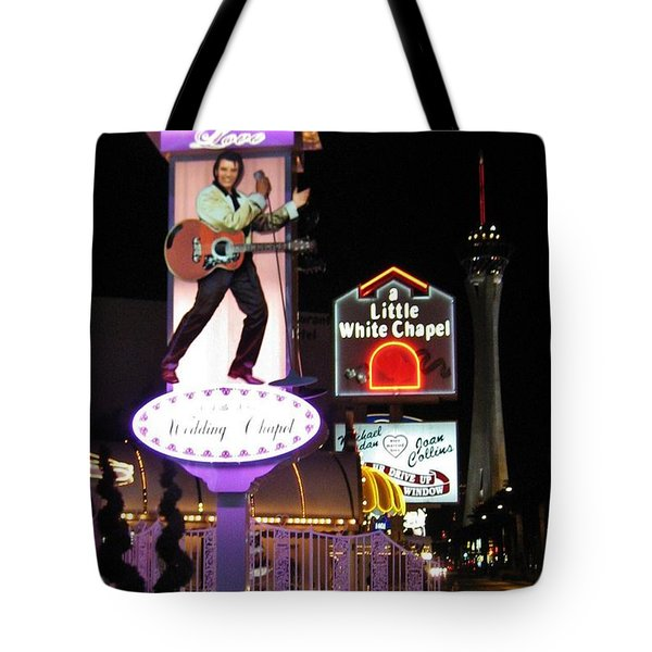 Elvis Lives Tote Bag by John Malone