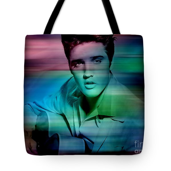 Elvis Tote Bag by Marvin Blaine