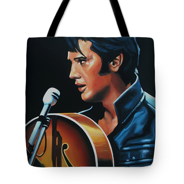 Elvis Presley 3 Painting Tote Bag by Paul Meijering