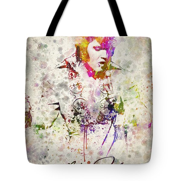 Elvis Presley Tote Bag by Aged Pixel