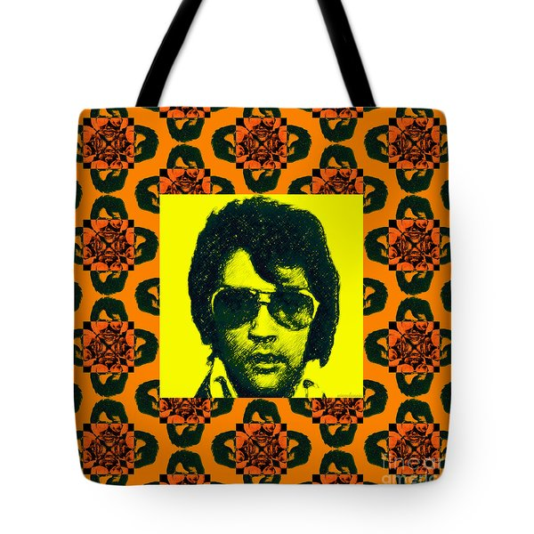 Elvis Presley Window P0 Tote Bag by Wingsdomain Art and Photography