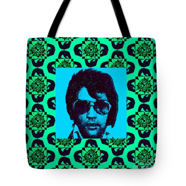 Elvis Presley Window p128 Tote Bag by Wingsdomain Art and Photography
