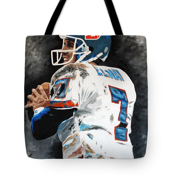 Elway Tote Bag by Don Medina